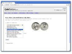 Silver Coin Melt Value Calculator Screenshot