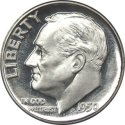 1946 1964 Roosevelt Silver Dime Melt Value