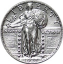 1916-1930 Standing Liberty Silver Quarter Melt Value