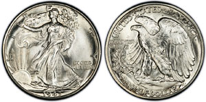 1916 1947 Walking Liberty Silver Half Dollar Value